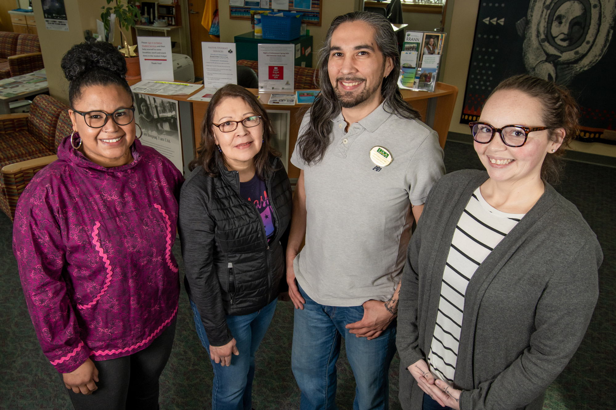 The four alumni staff of Native Student Services