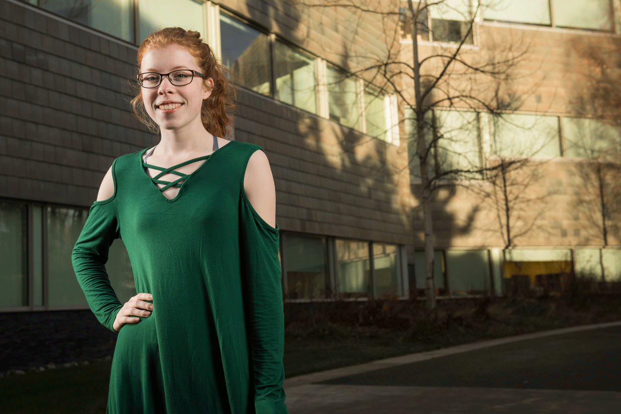 Alumna Mary Ryan, B.A. Journalism and Public Communications '20, former president of the Public Relations Student Society of America chapter at UAA.
