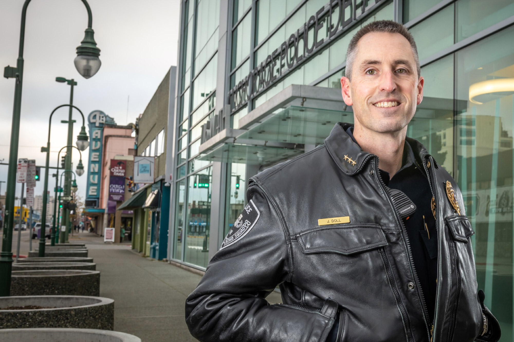 Economics alumnus and Anchorage Police Department Chief Justin Doll