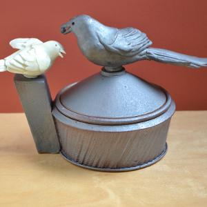 Magpie Pot with a Songbird Handle
