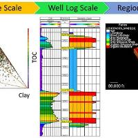 Shale facies modeling at multiple scales