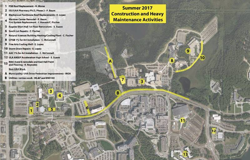 2017 Summer Construction and Heavy Maintenance Activities Map