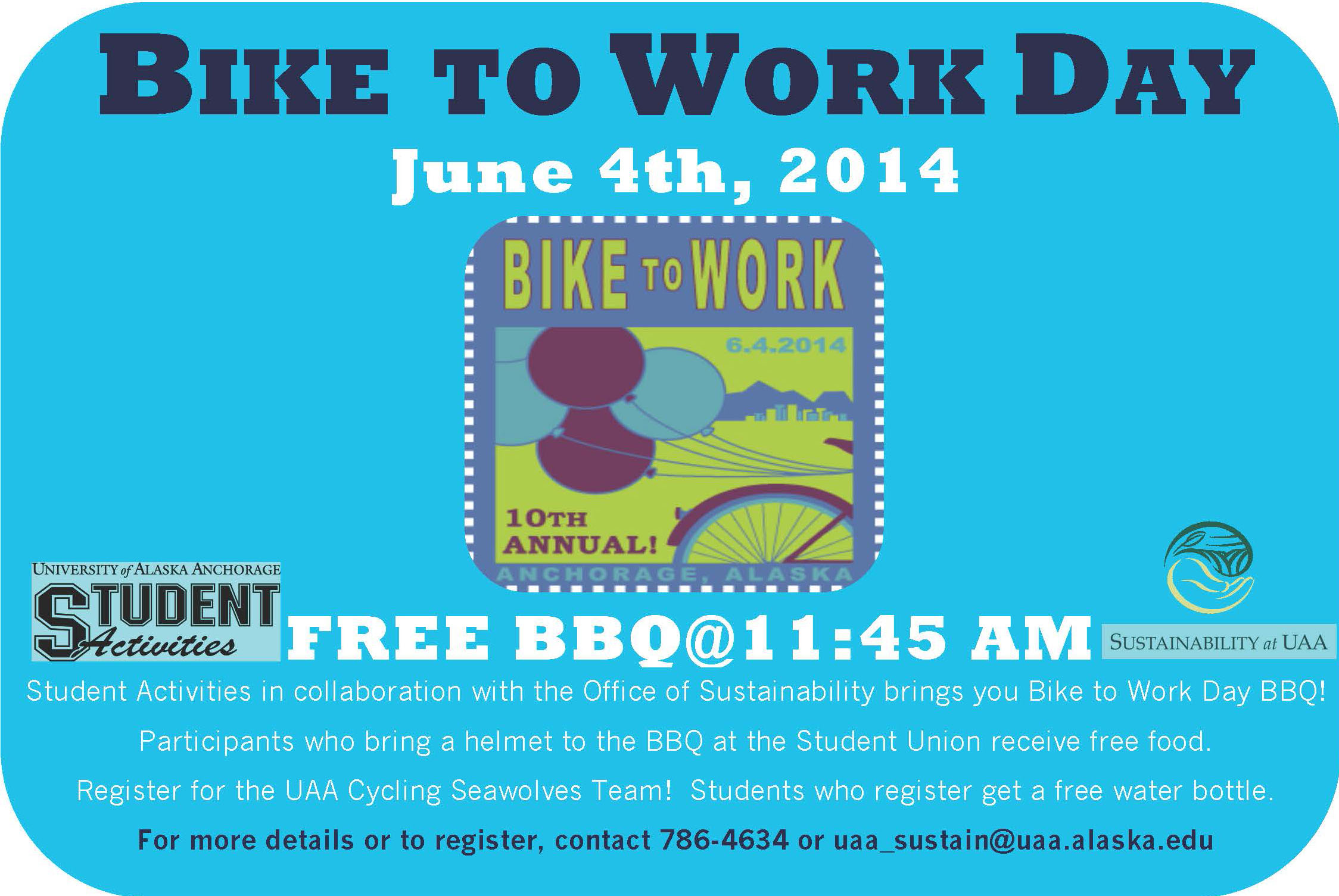 Bike to Work Day BBQ Poster