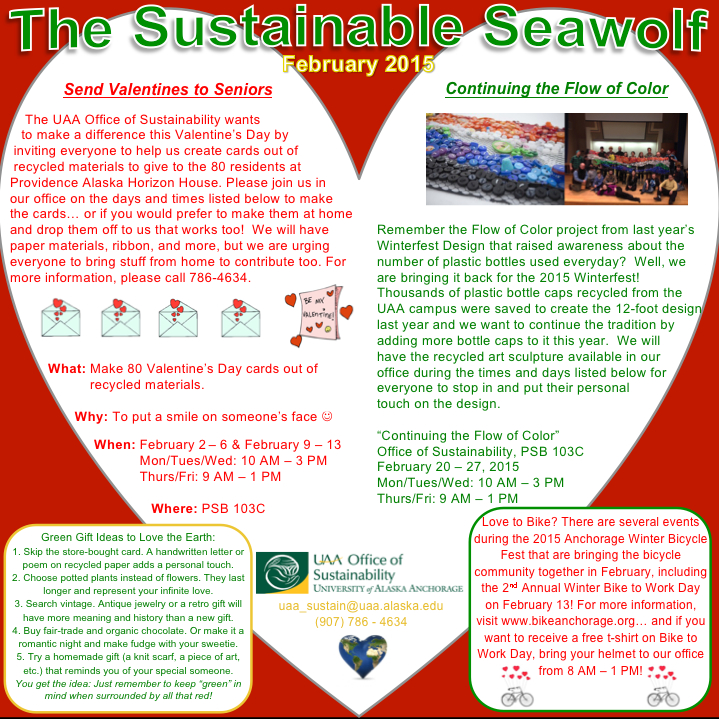 UAA Office of Sustainability February Newsletter
