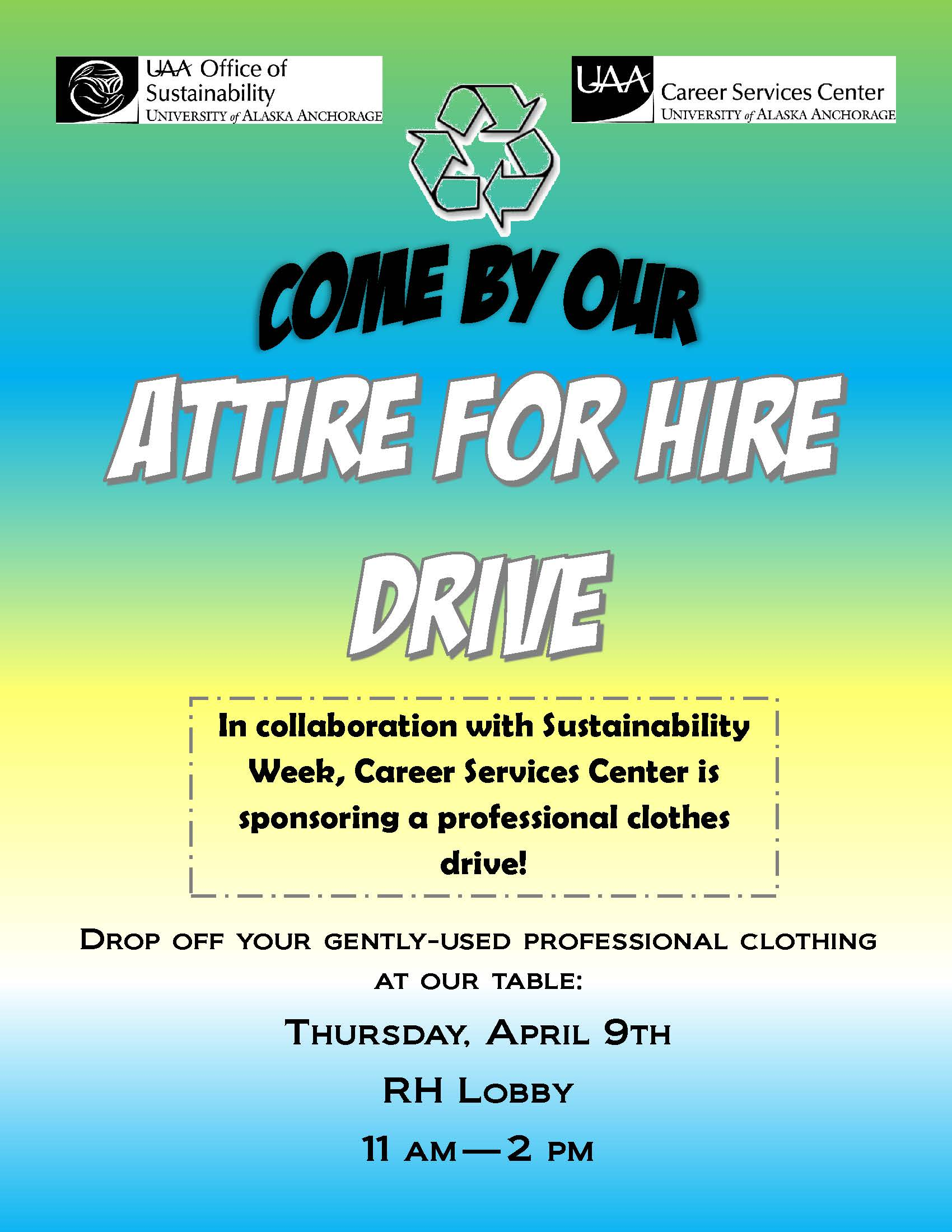 UAA Attire for Hire Clothing Drive