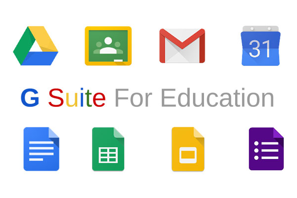 G Suite for Education application logos