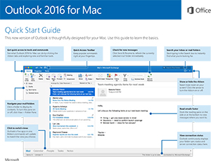 Outlook 2016 for Mac Quick Start Guide