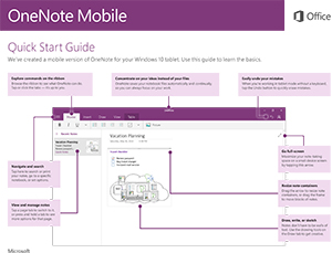 Office 2016 Mobile OneNote Quick Start Guide