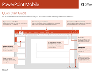 Office 2016 Mobile PowerPoint Quick Start Guide
