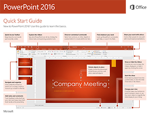 Office 2016 for Windows PowerPoint Quick Start Guide
