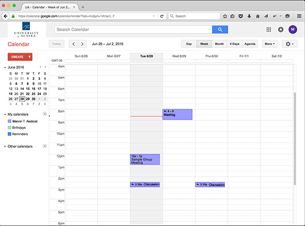 Google Calendar new event completed