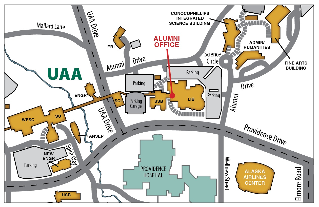 Map to Alumni Relations