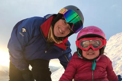 Jennifer Danza and her daughter enjoy a sunny day at Alyeska