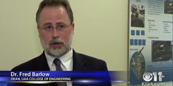 Screenshot of Dean Fred Barlow of the College of Engineering