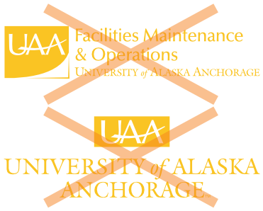 Don't use UAA gold for logos.
