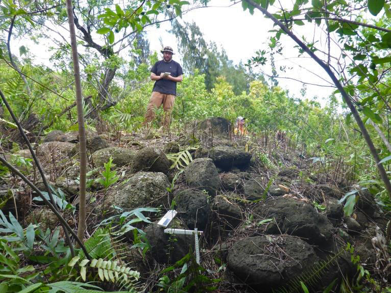 AERC team documents archaeological features at Kahuku Training Area