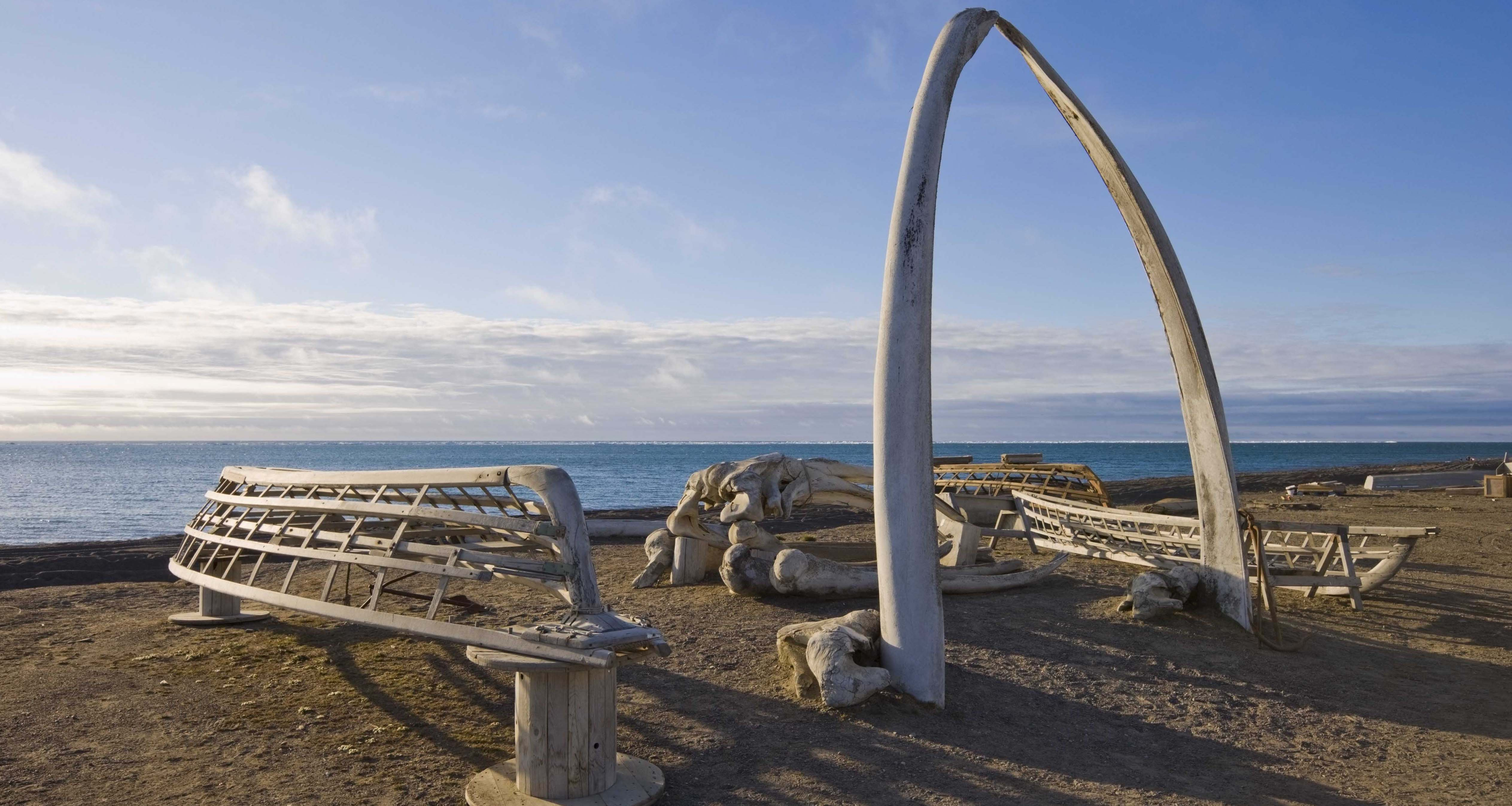 Beach of northernmost community in the United States, Utqiagvik