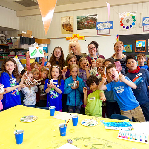 Inlet school students with UAA ceramics club