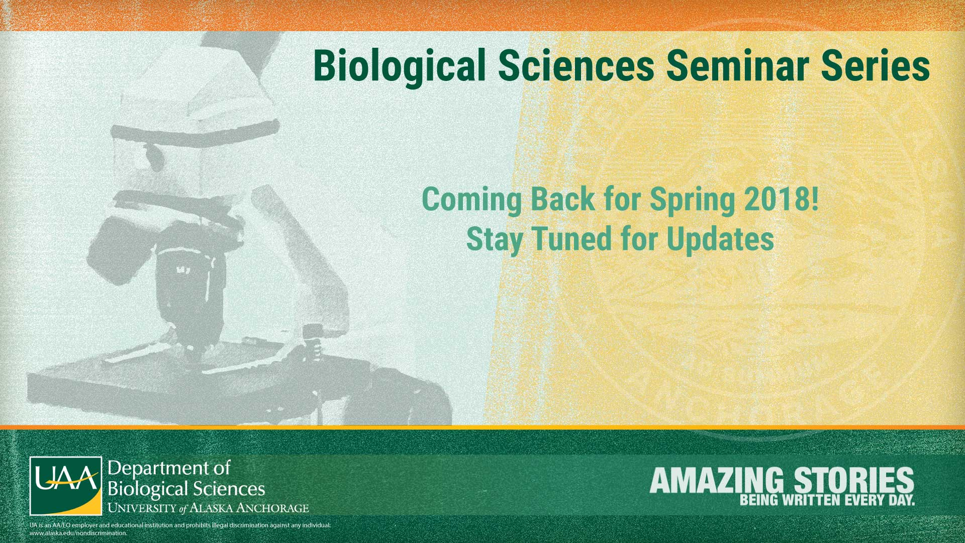 Biological Sciences Seminar