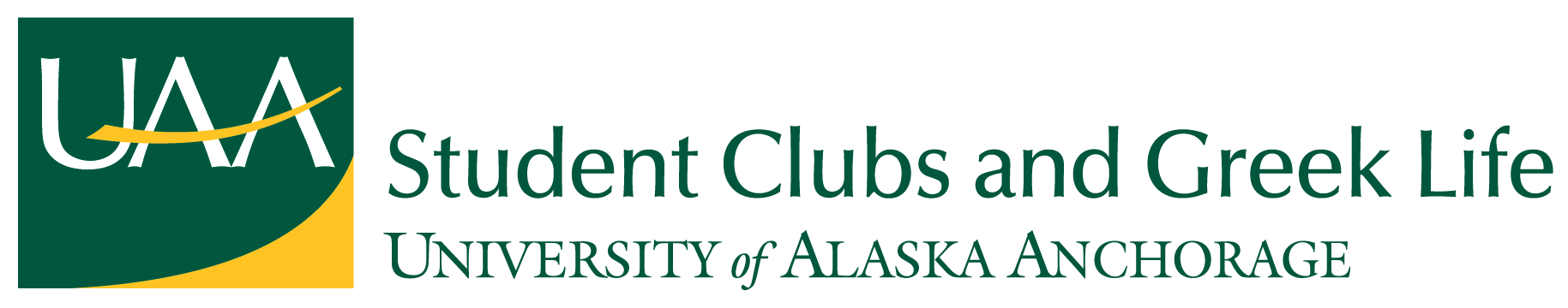 UAA Student Clubs and Greek Life Logo