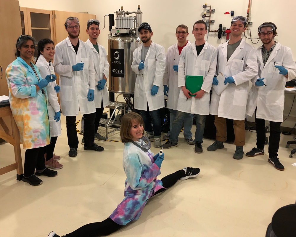 Chemistry Students showing off the ASET Lab