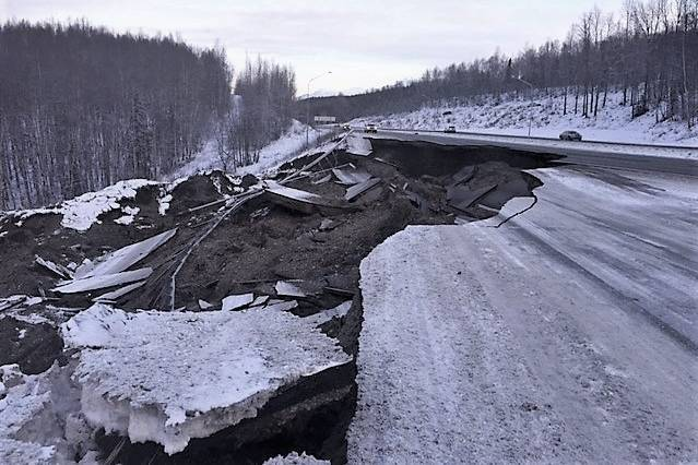2018 Earthquake damage to Glenn Highway