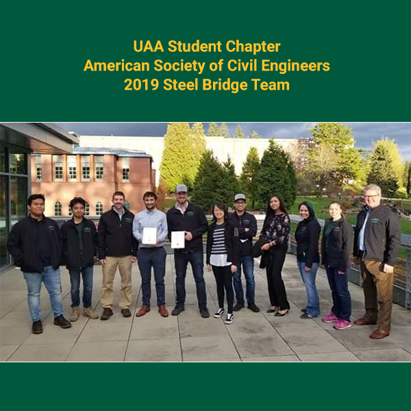 Picture of the 2019 UAA Steel Bridge Team