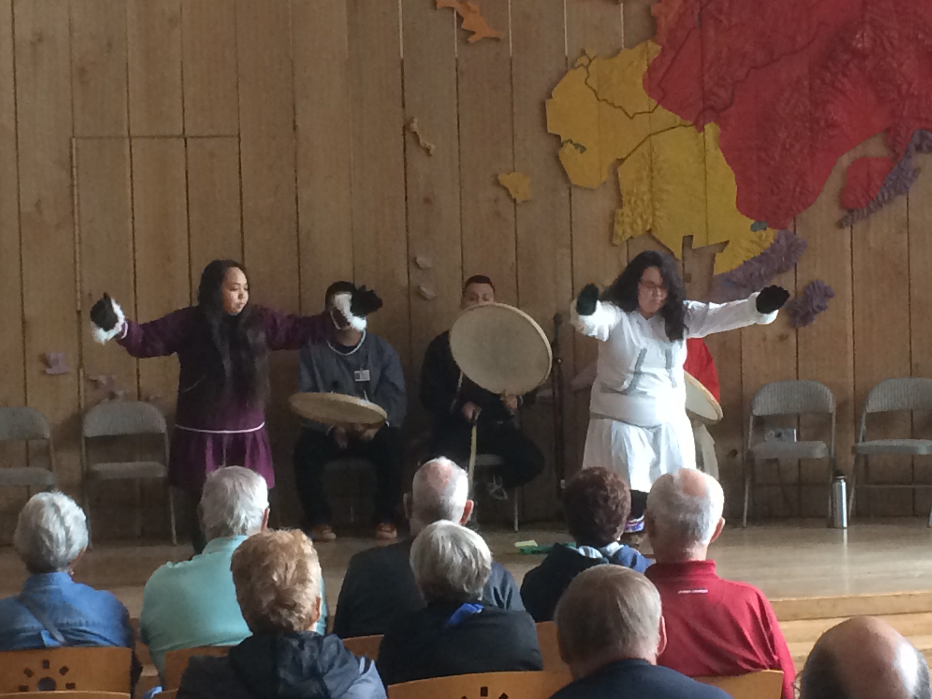 Dancers at the Alaska Native Heritage Center