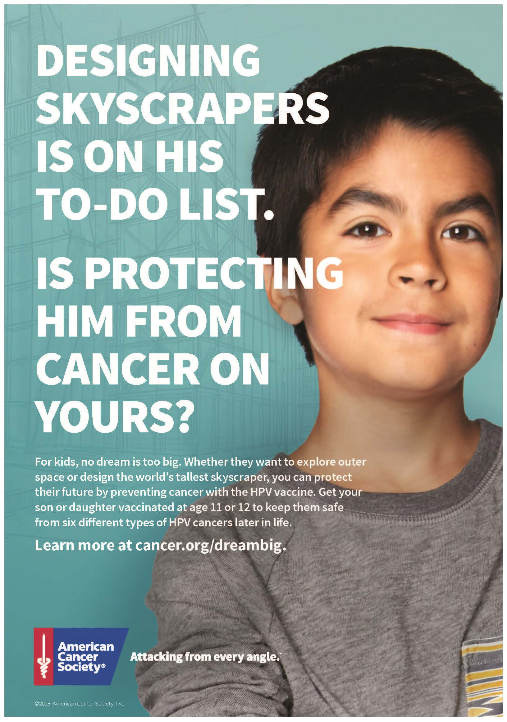 American Cancer Society HPV Poster