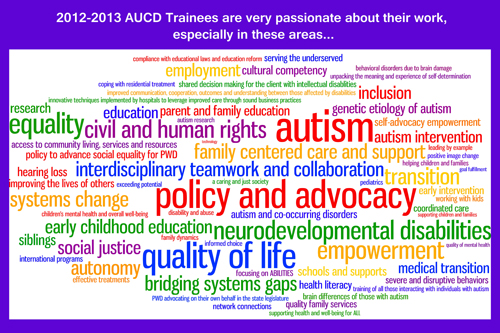 Trainnee's passions in a Wordle image