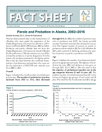 Parole and Probation in Alaska, 2002–2016