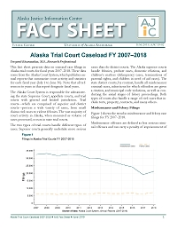 PDF of Alaska Trial Court Caseload FY 2007–2018