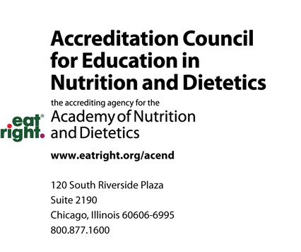 Accreditation Council for Education in Nutrition and Dietetics (ACEND) logo