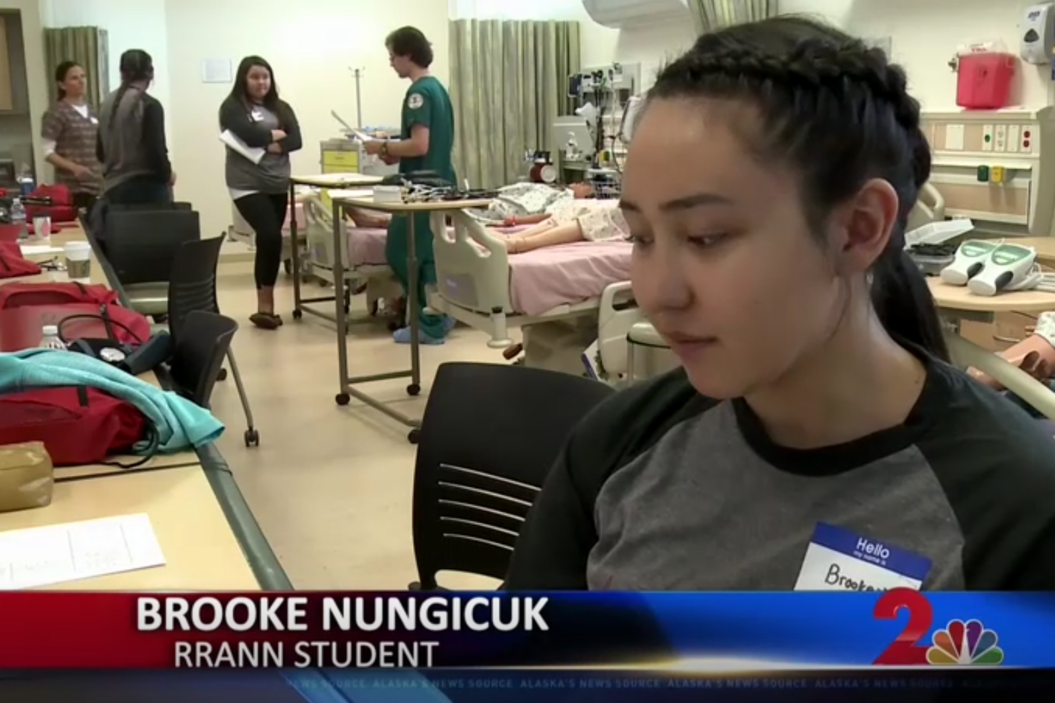KTUU interview with RRANN student
