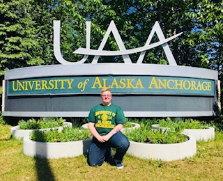 UAA Student at UAA Sign