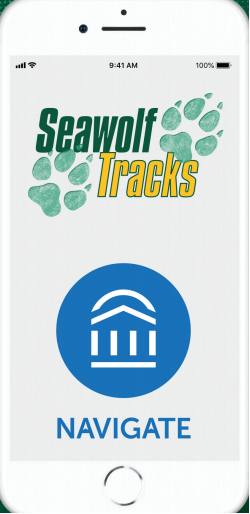 Photo of Seawolf Tracks application on an iPhone