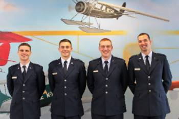 2nd Lt Keith Thompson, Brenden Wehde, Franklin Durr, & Ambrose Morris