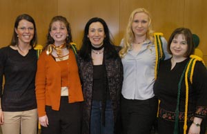 Zeljka Jutric, Ginny Cress, Dr. Claudia Lampman, Erin Trimble and Christina Glover
