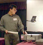 Discovery Grant Winner Max Konovalov presenting at the 2005 International Society for Computers and their Applications CATA Conference.