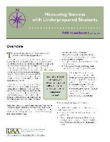 2009 Measuring Success with Underprepared Students
