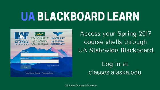UA Blackboard Learn Flyer