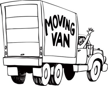 cartoon image of moving truck