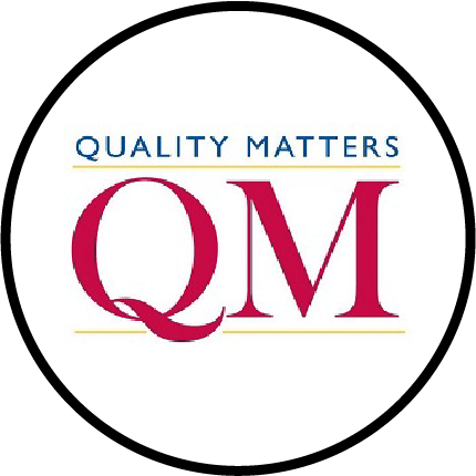 quality matters logo and link to webpages