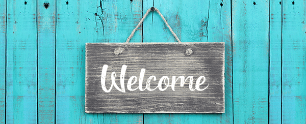 image of a welcome sign