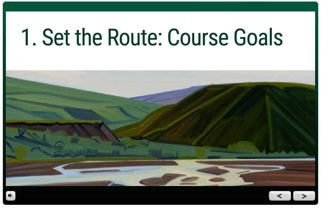 trail guide module: 1. set the route