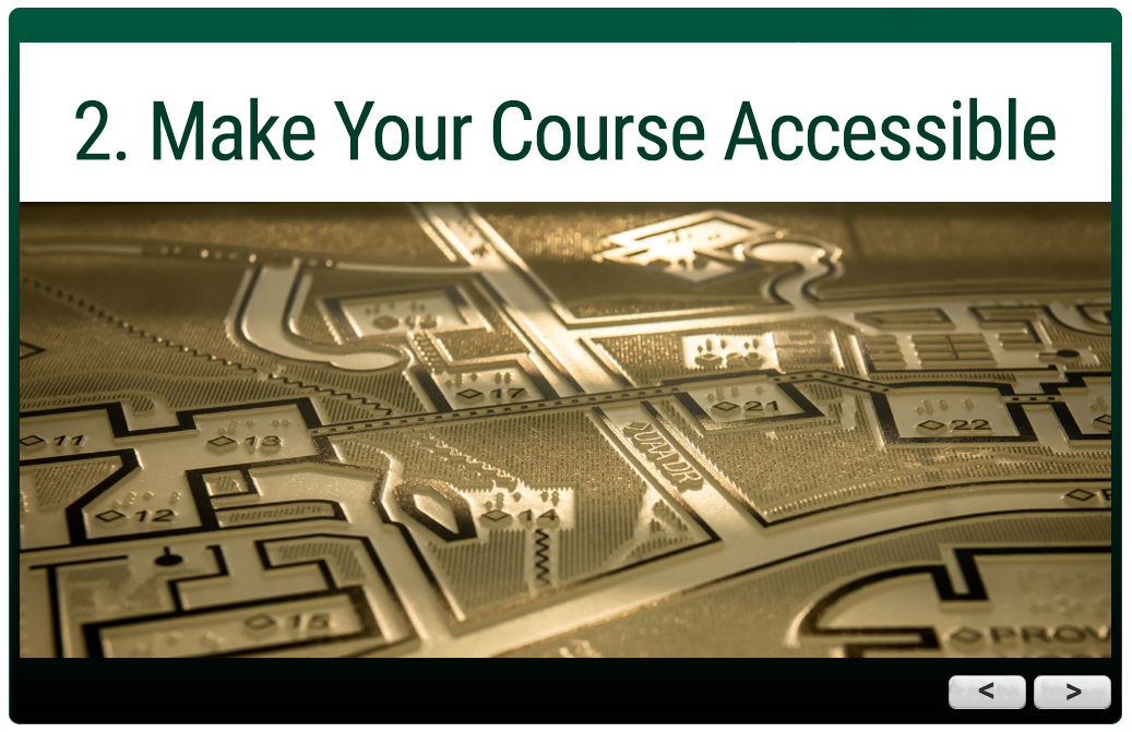 Trail Guides module:  2. Make Your Course Accessible