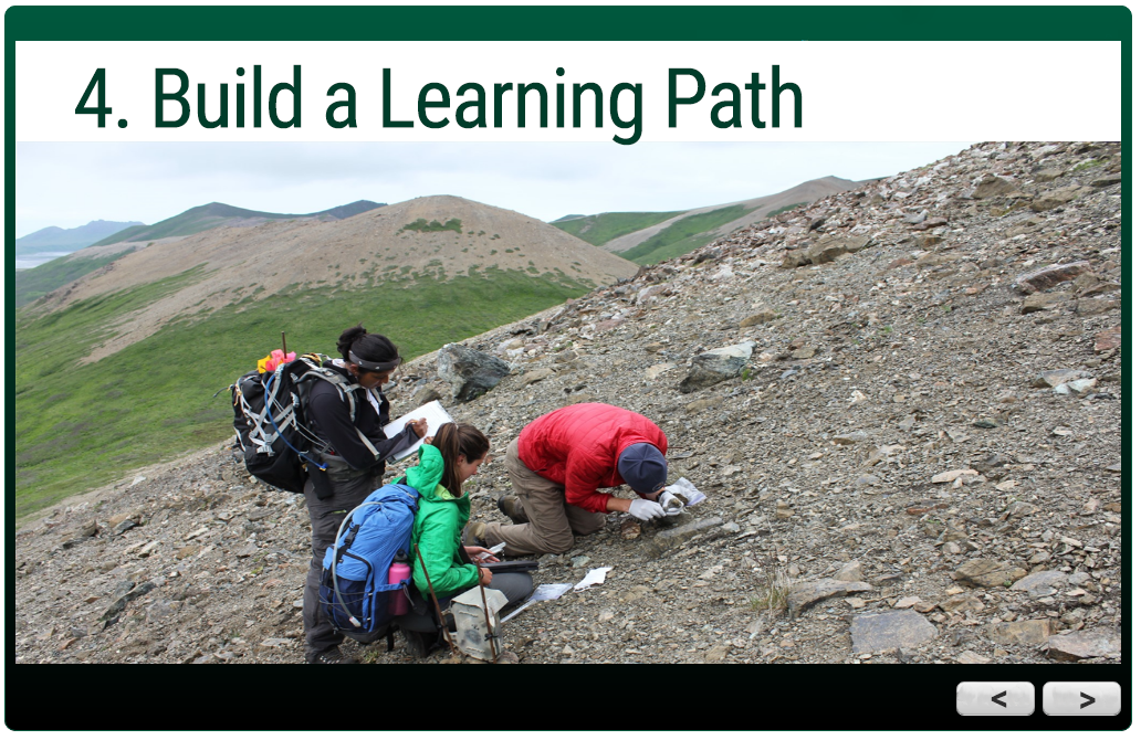 trail guide module:  4. Build a Learning Path