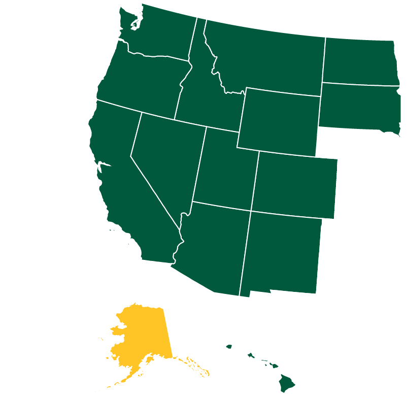 Map of WUE participating states