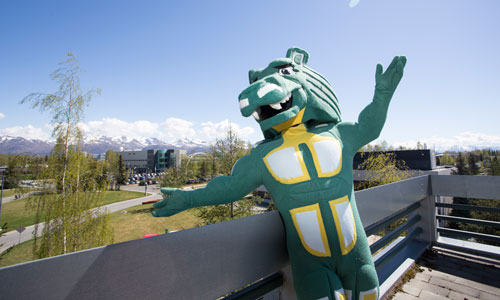 Spirit looking over the UAA campus