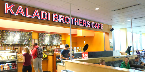 Students at the Kaladi Brothers Coffee Cafe